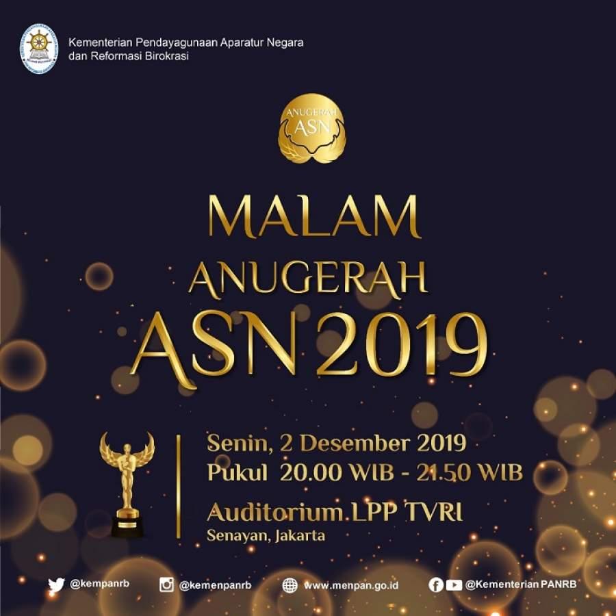 Malam Anugerah ASN 2019, Tiga Terbaik Peroleh Piala Adhigana