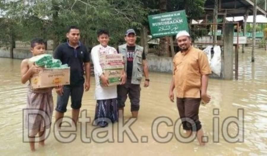 Ketua SMSI Aceh Bantu Korban Banjir di Aceh Utara