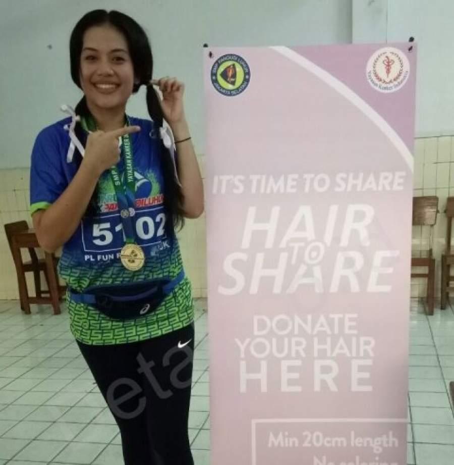 Peduli Penderita Kanker, RS Siloam Simatupang dan Alumni Pangudi Luhur Kumpulkan Rambut