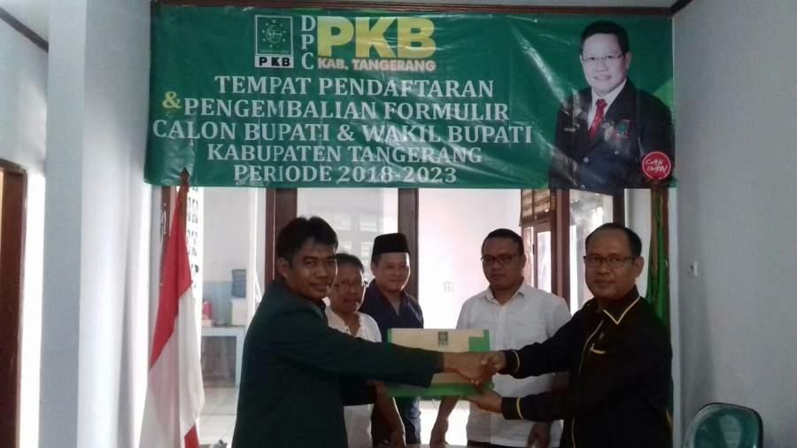 Pilbup Tangerang, Zaki Daftar di PKB