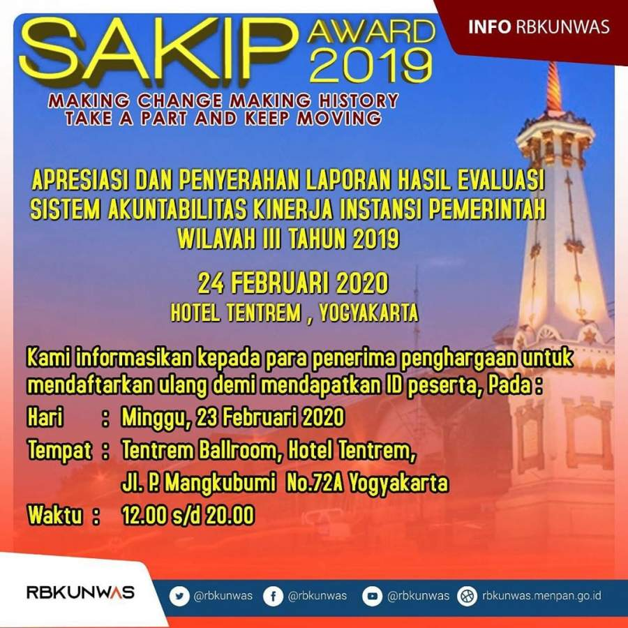 Yogyakarta Jadi Saksi Apresiasi Rapor SAKIP 190 Pemda